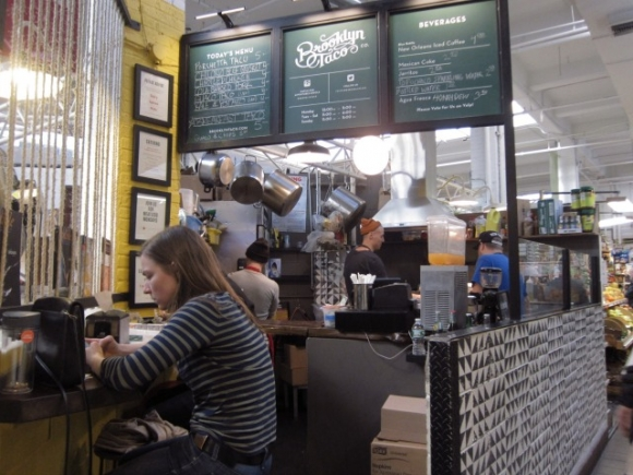 SSPNY loved the porchetta tacos at Brooklyn Taco at the Essex Street Market!