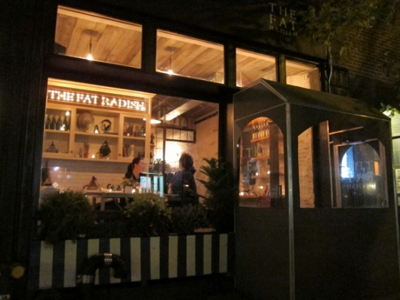 The Fat Radish is located on Orchard Street just north of Canal Street and serves lunch weekly from noon to 3:30 and on the weekend from 11am to 3:30, with nightly dinners being served from 5:30 to midnight