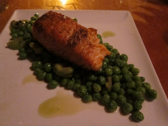 SSPNY tried the salmon filet, which was full of textures and flavors. Nice job, Giano!