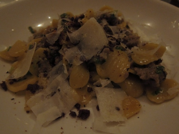 SSPNY loved the fresh pasta at Il Buco Alimentari e Vineria, especially the orecchiette with sausage and parmesan!