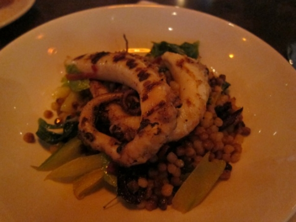 SSPNY Tries the Charred Octopus on the Small Plates Section of L'Apicio's Menu and Raves About the Perfect Cooking