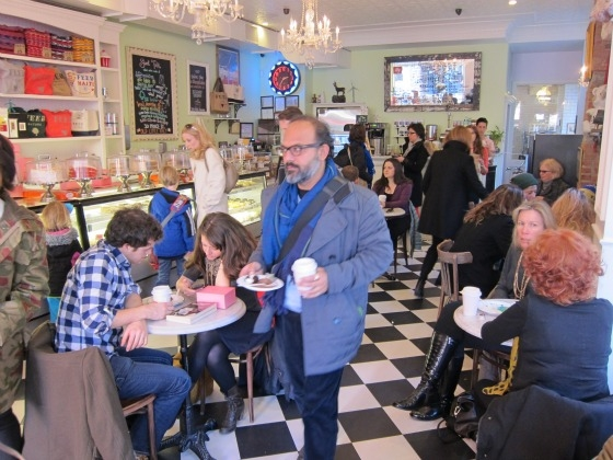 SSPNY heads to the Little Cupcake Bakeshop alongside crowds of tourists and teenagers, to check out a menu that features a variety of cupcakes at this local Nolita neighborhood treasure-- using all locally sourced ingredients and 100% wind power to practice super energy-efficient daily operations, and with it's original location in Bay Ridge Brooklyn being declared the worlds first carbon neutral bakery!