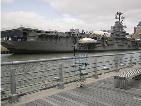 SSPNY heads to the piece Hiding in New York, where an individual is blended in with the mighty USS Intrepid.