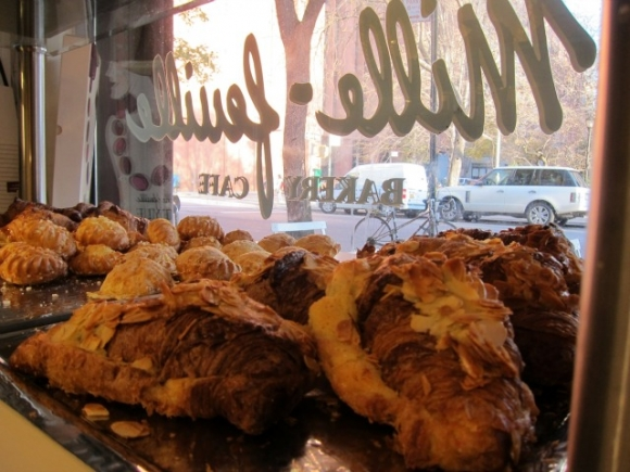 SSPNY checks out the small Mille-Feuille Bakery Cafe by Parisian owner and baker Olivier Dessynon on LaGuardia Place for hands-down the best croissants in town