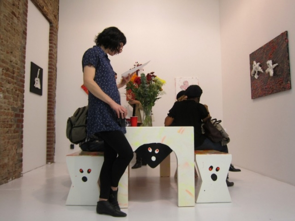SSPNY takes a rest at Misaki Kawai's first solo exhibition in NYC in 6 years, introducing her cute furniture into the display, where people can sit and relax in between exploring different works at her exhibit.