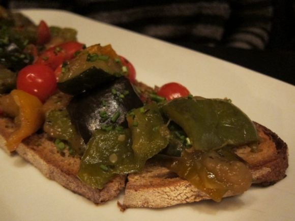 SSPNY lastly tried the Ratatouille tartine at Nolita's Tartinery which was good and featured eggplant, zucchini, tomatoes and more!
