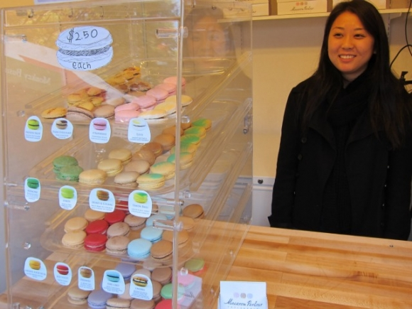 SSPNY next checks out the Macaron Parlour booth for these French-style pastries to give as a gift or wrap up for yourself. And don't forget to check out their new storefront on St. Marks near Avenue A