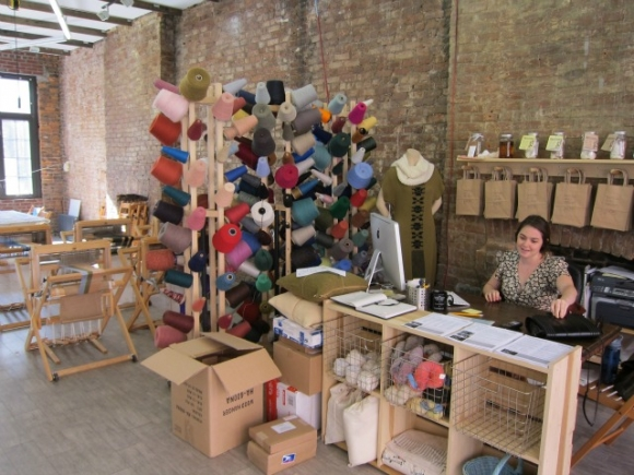 SSPNY inside the Textile Arts Center in West Village offering craft classes in block printing, sewing, looming and more...